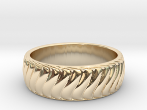 Unique Curved Band in 14k Gold Plated Brass