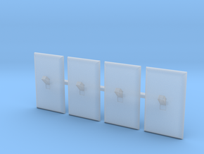 Light Switch Faces Only, 1/12 Scale in Smoothest Fine Detail Plastic
