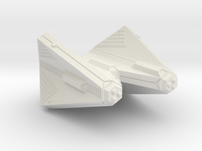 3125 Scale Tholian Heavy Command Cruiser (CCH) SRZ in White Natural Versatile Plastic