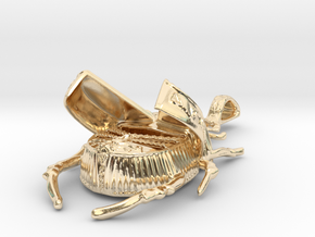 Lotus Scarab - Pendant - Vessels in 14k Gold Plated Brass
