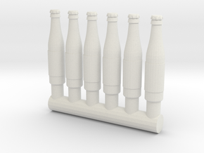 "4"" Action Figure Scale Bottles (G.I.Joe/Star Wars) in White Natural Versatile Plastic: Medium"