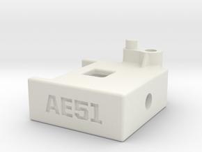 RC8B3.1 Integrated Transponder Mount in White Natural Versatile Plastic