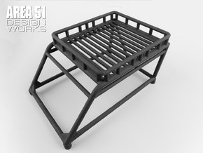 12th Scale Overland Bed Rack in Black Natural Versatile Plastic