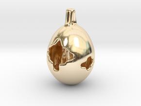 Fox Hollow - Pendant - Orphic Eggs in 14K Yellow Gold