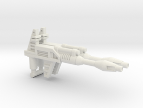Prowl / Bluestreak / Smokescreen Rifle (3mm, 5mm) in White Natural Versatile Plastic: Medium