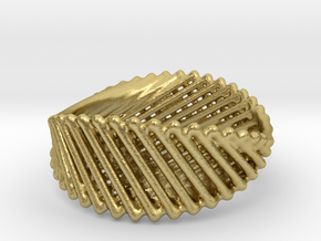 Ring 21 in Natural Brass