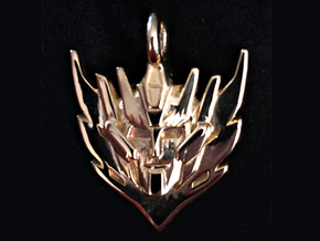 Rodimus Star Badge/Pendant in Polished Gold Steel: Medium