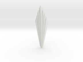 Art Deco lampshade Sunburst in White Natural Versatile Plastic