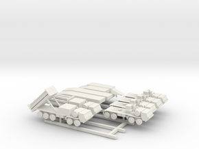 1/200 Scalew THAAD Missile System in White Natural Versatile Plastic