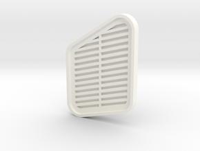 Lüftergitter Unimog in White Processed Versatile Plastic