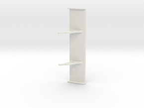 PSSA00303 rear wing for Scaleauto Merc AMG SLS GT3 in White Natural Versatile Plastic