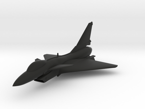 Chengdu J-10 in Black Natural Versatile Plastic