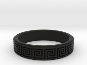 Greek Fieze Pattern Ring 20mm in Black Premium Versatile Plastic
