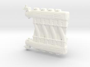 LS3 1/12 Edelbrock crossram intake in White Processed Versatile Plastic