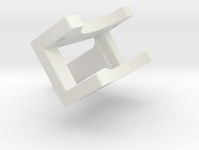 Yokomo Laydown 30mm Fan Mount in White Natural Versatile Plastic