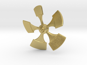Nautilus Propellor 53mm in Natural Brass