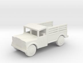1/200 Scale M715 Jeep 1 25 Ton Cargo Truck in White Natural Versatile Plastic