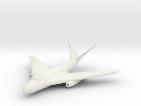 (1:144) Messerschmitt Me P.1101/92 in White Natural Versatile Plastic