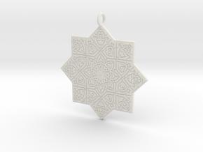 Celtic Knot pendant in White Natural Versatile Plastic