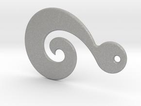 Maori Pendant - medium (3mm thick) in Aluminum