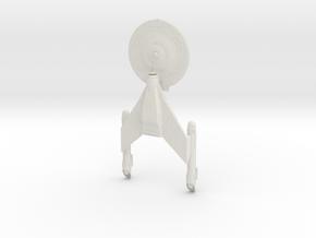 Discovery Class C refit BattleCruiser.  in White Natural Versatile Plastic
