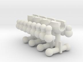 MTF Adapter Sampler WITH Barbells in White Natural Versatile Plastic