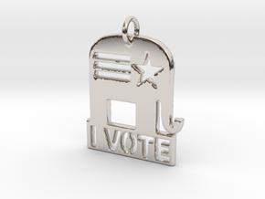 I Vote Elephant in Platinum