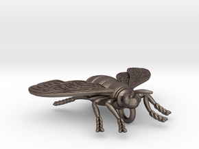 BEE Pendant in Polished Bronzed-Silver Steel