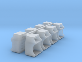 8x Caboose Steps - O scale in Smooth Fine Detail Plastic