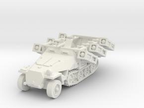Sdkfz 251 D1 Stuka Zu Fuss scale 1/100 in White Natural Versatile Plastic