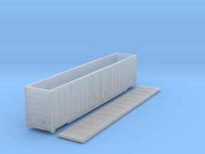 60-foot Excess Height Gunderson boxcar in Nscale in Smooth Fine Detail Plastic