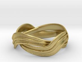Turban Roll - Ring in Natural Brass (Interlocking Parts)