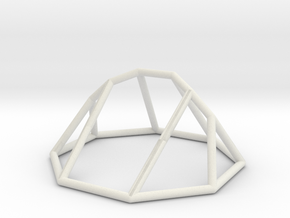 "Minimal ""irregular"" polyhedron in White Natural Versatile Plastic: Large"