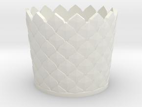 Leaf Vase Case in White Natural Versatile Plastic