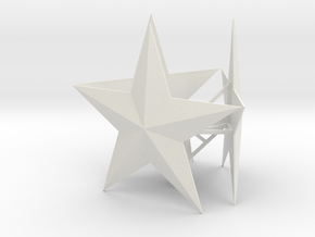 Large Tree Star in White Natural Versatile Plastic