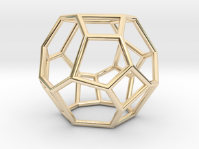 """""""Irregular"""" polyhedron no. 4 in 14k Gold Plated Brass: Small"""