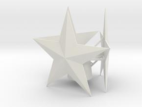 Small tree star in White Natural Versatile Plastic