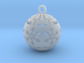 small christmas ball in Smooth Fine Detail Plastic