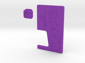 JUICY Door & Button Combo in Purple Processed Versatile Plastic