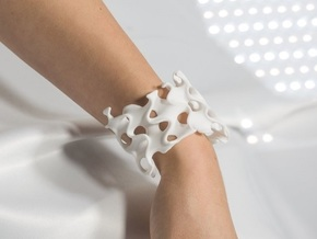 Infinite Bracelet in White Natural Versatile Plastic