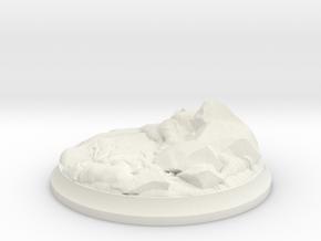 Lava Stones - 40 mm Base for Tabletop Games in White Premium Versatile Plastic