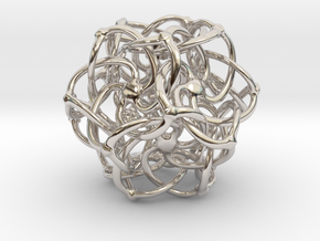 Doda Lotus - 25mm (1 inch) in Rhodium Plated Brass