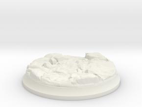 Lava Stream - 40 mm Base for Tabletop Games in White Premium Versatile Plastic