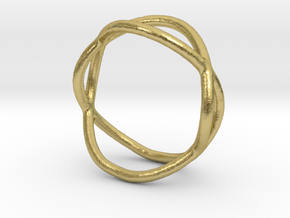 Ring 10 in Natural Brass
