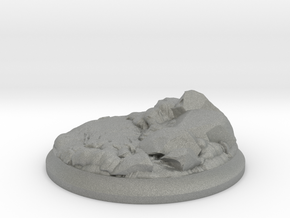 Lava Stones - 40 mm Base for Tabletop Games in Gray Professional Plastic