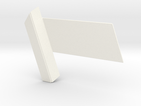 RDS Interlock - Slider (solid) in White Processed Versatile Plastic