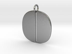 Numerical Digit Zero Pendant in Natural Silver
