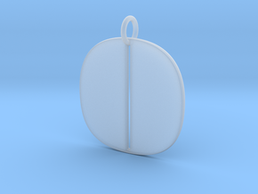 Numerical Digit Zero Pendant in Smooth Fine Detail Plastic