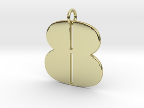 Numerical Digit Eight Pendant in 18K Yellow Gold