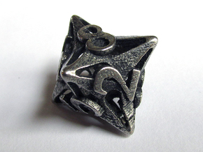 Pinwheel Die8 in Polished Bronzed Silver Steel
